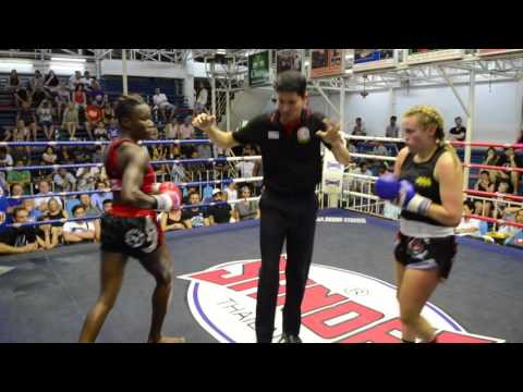 Candice PhuketTopTeam Vs Leonie Tiger Muay Thai - Female Muay Thai Fight 20 July 2016