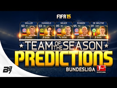 BUNDESLIGA TEAM OF THE SEASON PREDICTIONS! w/ 95 ROBBEN AND 91 DE BRUYNE! FIFA 15 ULTIMATE TEAM TOTS