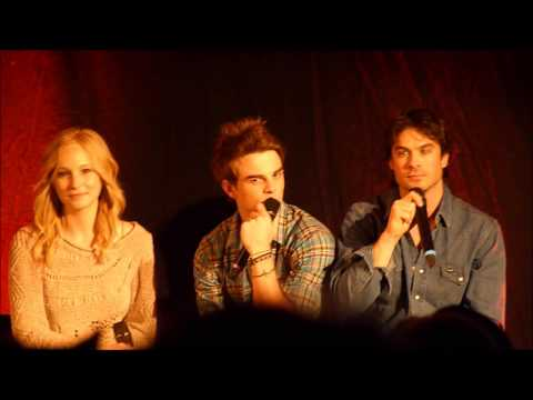 Ian Somerhalder Nathaniel Buzolic Candice Accola Presentation Close Up BloodyNightCon Europe2013