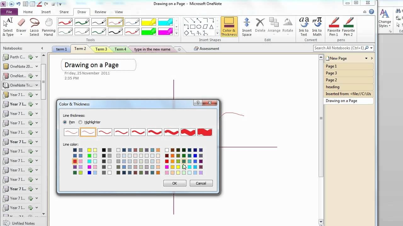 Drawing diagrams, graphs and text - OneNote Skills