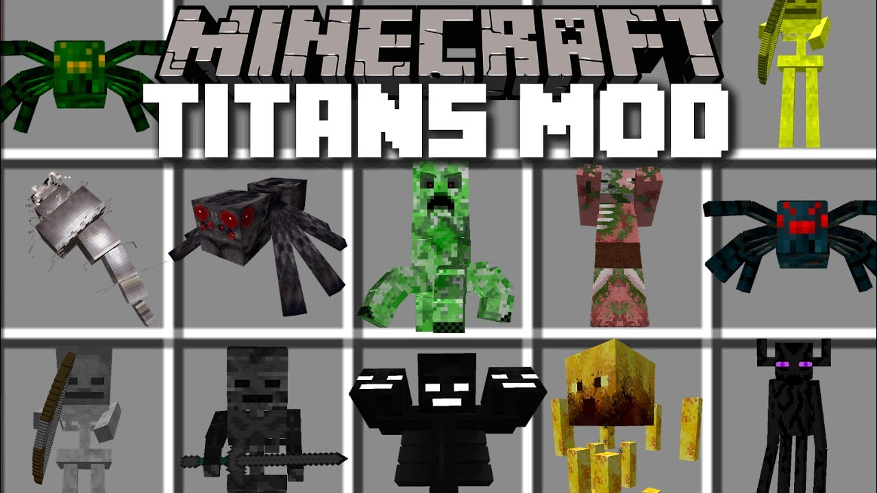 Minecraft TITANS MOD / DESTROYING THE DESERT VILLAGE!! Minecraft