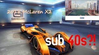 Asphalt 8 Sub 40 seconds?!    2018 McLaren X2 Dubai Test Drive