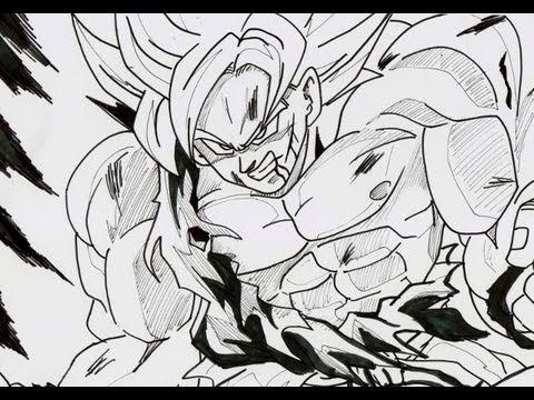 Goku Super Saiyan 5 Drawings How to Draw Son Goku Super