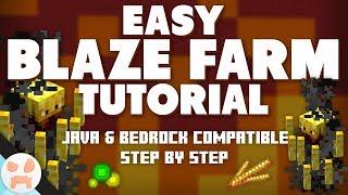1.13.2 BLAZE FARM TUTORIAL   Easy, Java & Bedrock, Step by Step