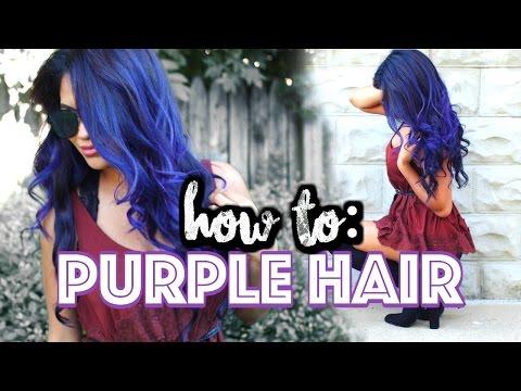 NO BLEACH! How To DYE Your Hair Purple At Home!   Belinda Selene