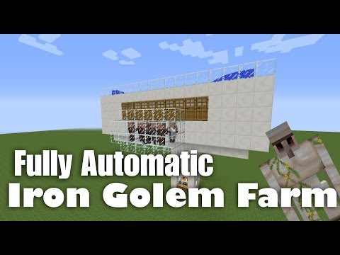 Fully Automatic Iron Golem Farm Tutorial Minecraft 1.8