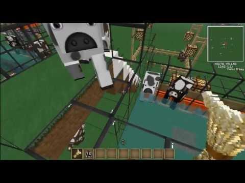Minecraft Granja-matadero 100% automatica de carne cocinada (SIN MODS) (VACAS) 1.5 y mas