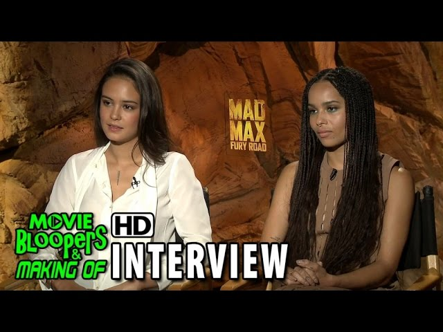 Mad Max: Fury Road (2015) Official Movie Interview - Zoe Kravitz & Courtney Eaton