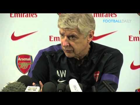 Arsene Wenger reacts to Robin van Persie leaving Arsenal