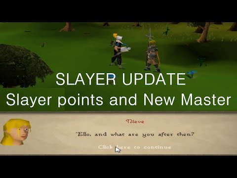 RuneScape 2007 Slayer Update: New Slayer Master and Slayer point system