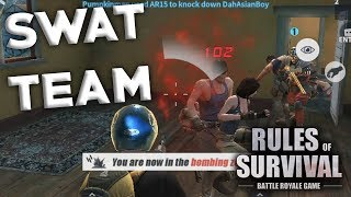 BOBBY AND MEDAL PLAY THE SWAT TEAM CUSTOM GAME CHALLENGE IN RULES OF SURVIVAL!!