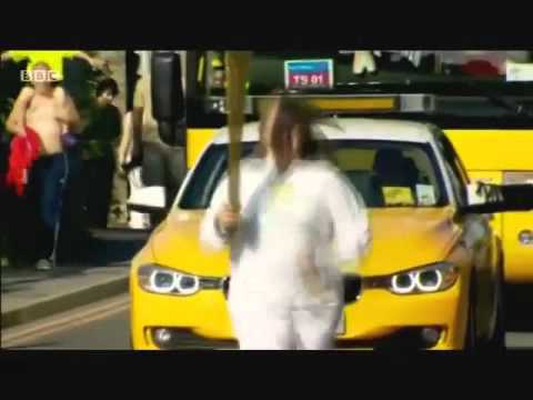 Hazel's Olympic Torch Run (BBC stream)