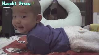 赤ちゃんはじめての寝返り - baby vlog