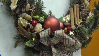 Рождественский венок на дверь. Мастер-класс