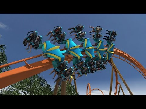 Thunderbird Roller Coaster POV Animation Holiday World 2015