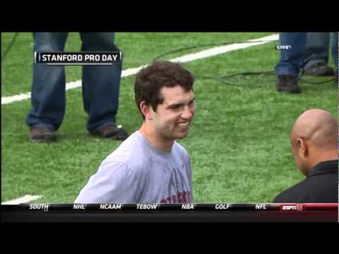 HD- Andrew Luck throws 70 yard bomb at pro day! (High)