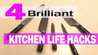 4 Brilliant Kitchen LIFE HACKS!