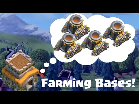 Clash of Clans Town Hall 8 Farming Base - Layouts For Four Mortars