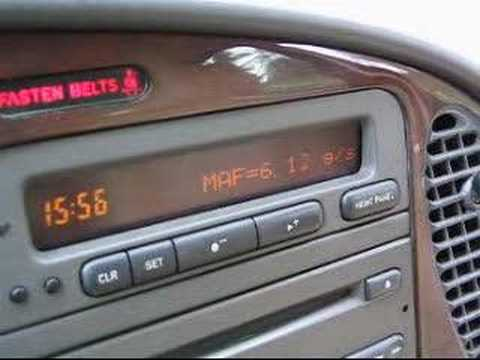 OBD-II info to Saab 9-3 SID Video