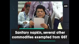 Sanitary napkin along with exempted from GST  - #Business News