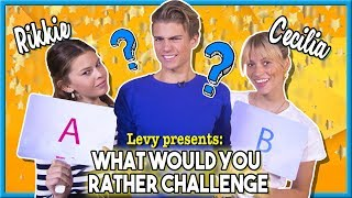 WOULD YOU RATHER CHALLENGE met HNTM CECILIA & RIKKIE en LEVY JANSEN + GIVEAWAY