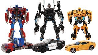 Transformers  Movie Animation - Bumblebee, Optimus Prime, Barricade Police Car for kids