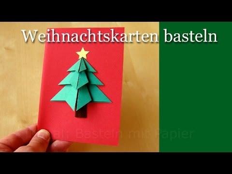 weihnachtskarten basteln basteln f r weihnachten youtube. Black Bedroom Furniture Sets. Home Design Ideas