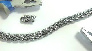 Как из серебра сделать цепочку в домашних условиях