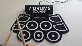 TNKR D1 Portable Roll Up Drum Kit - Demo