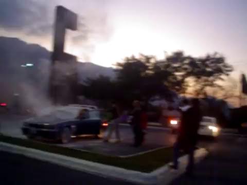 carro quemandose en san pedro garza garcia N.L.