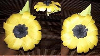 DIY/ best craft idea reuse of paper/ Make paper sun flower very easy  craft