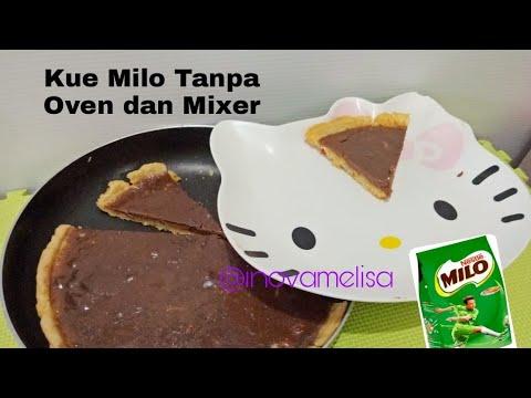 Kue Tanpa Oven dan Mixer - Pie Susu Milo Pakai Teflon -  DIY Cara Membuat
