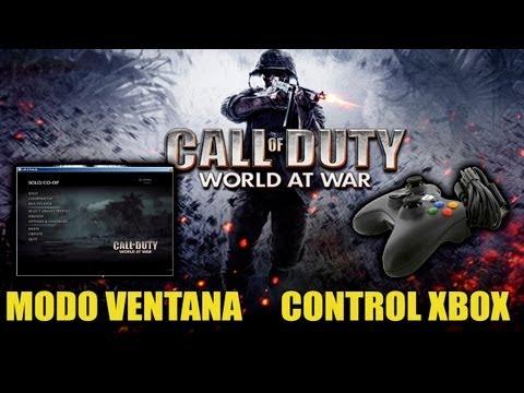 COD World at War PC - Como jugar con Control/Mando Xbox   Subir Sensibilidad   Poner Modo Ventana