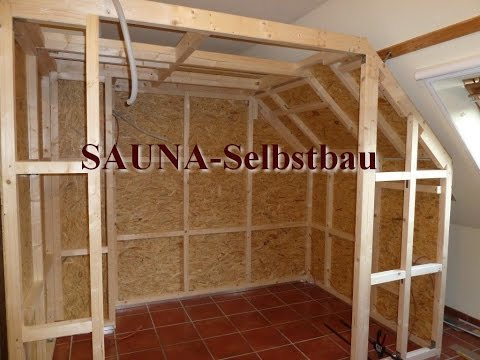 sauna selber bauen tipps videolike. Black Bedroom Furniture Sets. Home Design Ideas