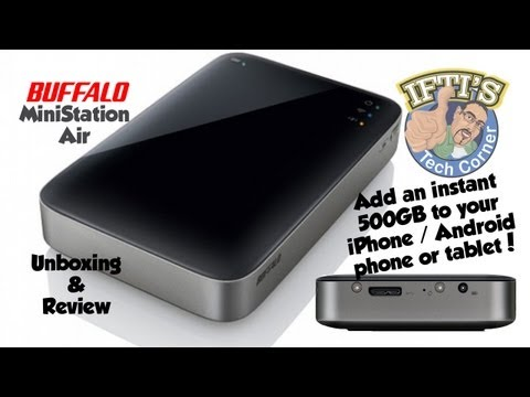 Add 500GB to Your iPhone/Android phone or tablet! Buffalo Ministation Air Review.