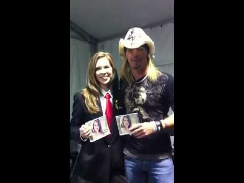 Amy Assiter With Bret Michaels At Barrett Jackson