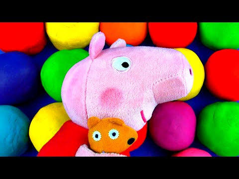 Peppa Pig Play-doh Surprise Eggs Shopkins Spongebob Mickey Mouse Hello Kitty Thomas Cars 2 Fluffyjet video