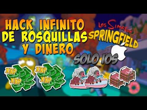 Hack de Rosquillas Y Dinero Infinito   Solo iOS   - Los Simpson Springfield   Jailbreak
