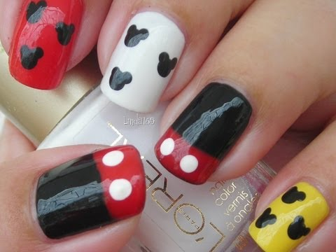 Nail Art - Mickey Mouse Nails - Decoracion de Uñas