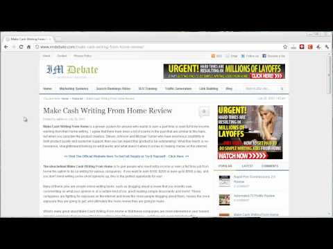 Make Cash Writing From Home Review