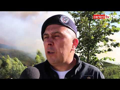 Fogo amea�a v�rias aldeias em Pampilhosa da Serra