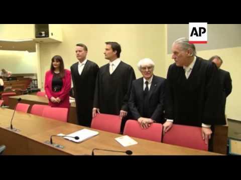 Germany - Formula One - Bernie Ecclestone's bribery trial begins in Munich / Formula One boss reject