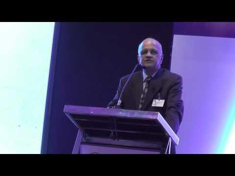 Mr. R. Chandrashekhar addressing the dignitaries in Opportunity Chhattisgarh 2015(Part1/2)