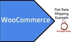 WooCommerce Flat Rate Shipping Example