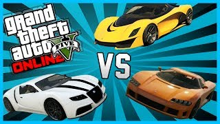 GTA 5 - Turismo vs. Adder vs. Entity XF DRAG RACE (GTA V Online Gameplay)