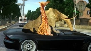 Elephant and Giraffe [GTA IV - Player Mod]