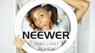 "NEEWER RING LIGHT 18"" Review   Beginner Tutorial   My Filming Setup"