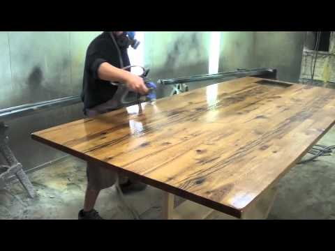 Reclaimed Wood Counter Top - YouTube