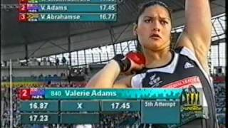 Womens Shot Put Final Commonwealth Games 2002