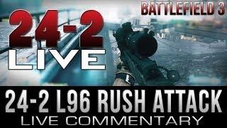 Battlefield 3 24-2 L96 Sniping Live on Grand Bazaar Attack